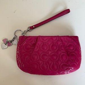 Coach Wristlet Pink Bag
